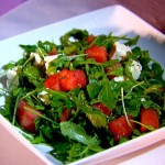 Watermelon Salad with Feta cheese and Arugula